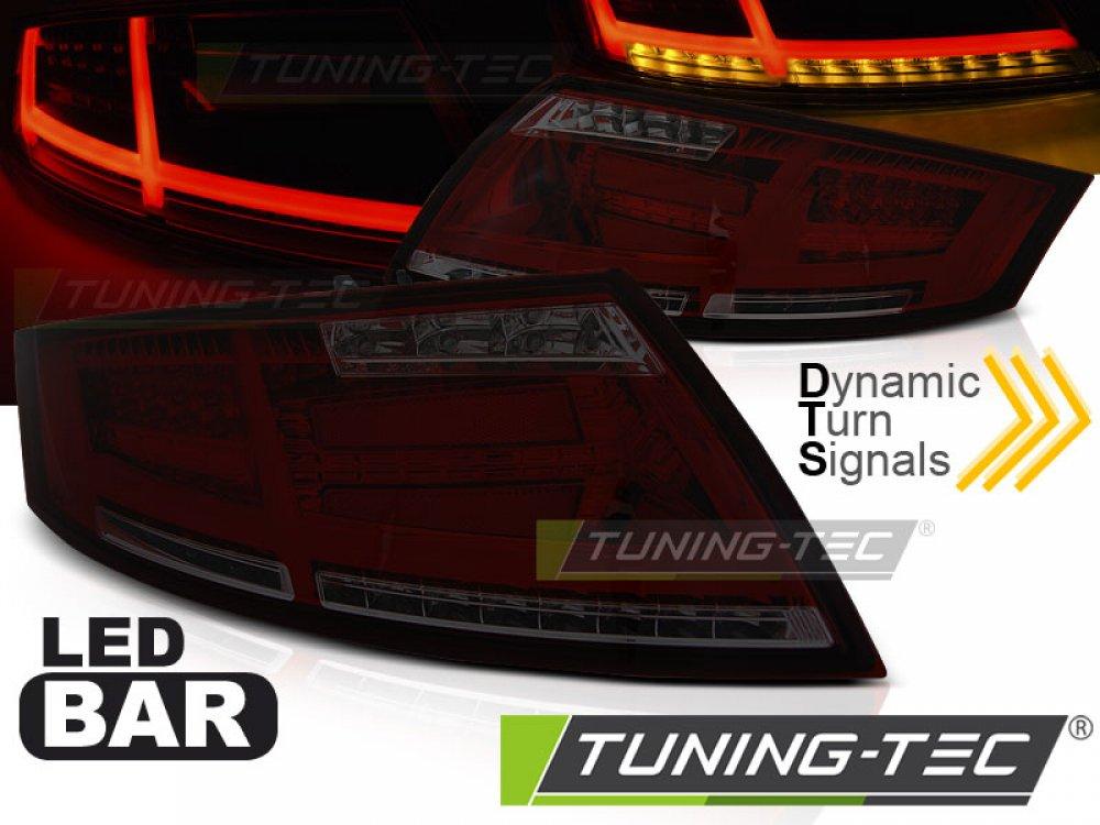 Задние диодные фонари от Tuning-Tec Dynamic LED Red Smoke на Audi TT 8J