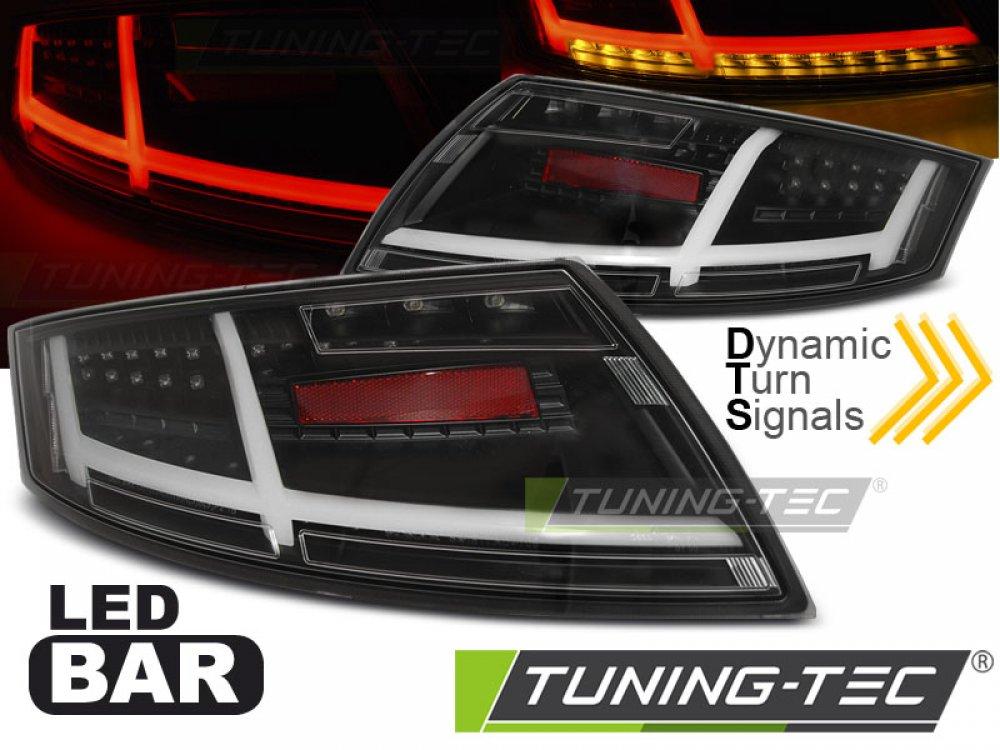 Задние диодные фонари от Tuning-Tec Dynamic LED Black на Audi TT 8J