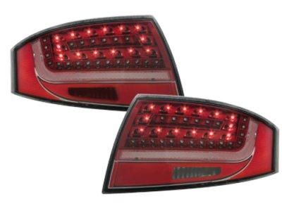 Задние фонари Litec LED Red Crystal на Audi TT 8N