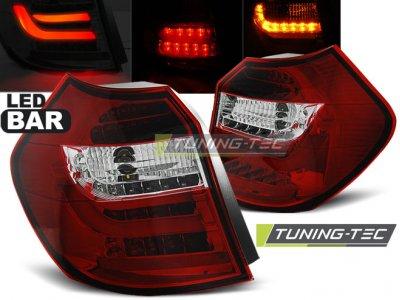 Задние фонари LedBar Red Crystal на BMW 1 E87