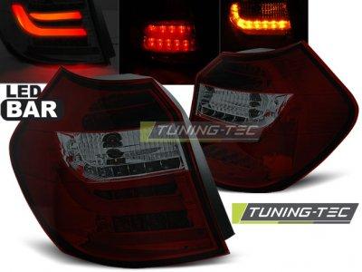 Задние фонари LedBar Red Smoke на BMW 1 E87 рестайл