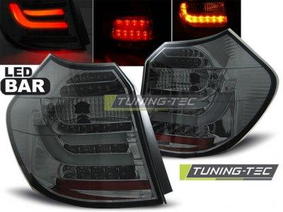 Задние фонари LedBar Smoke на BMW 1 E87 рестайл