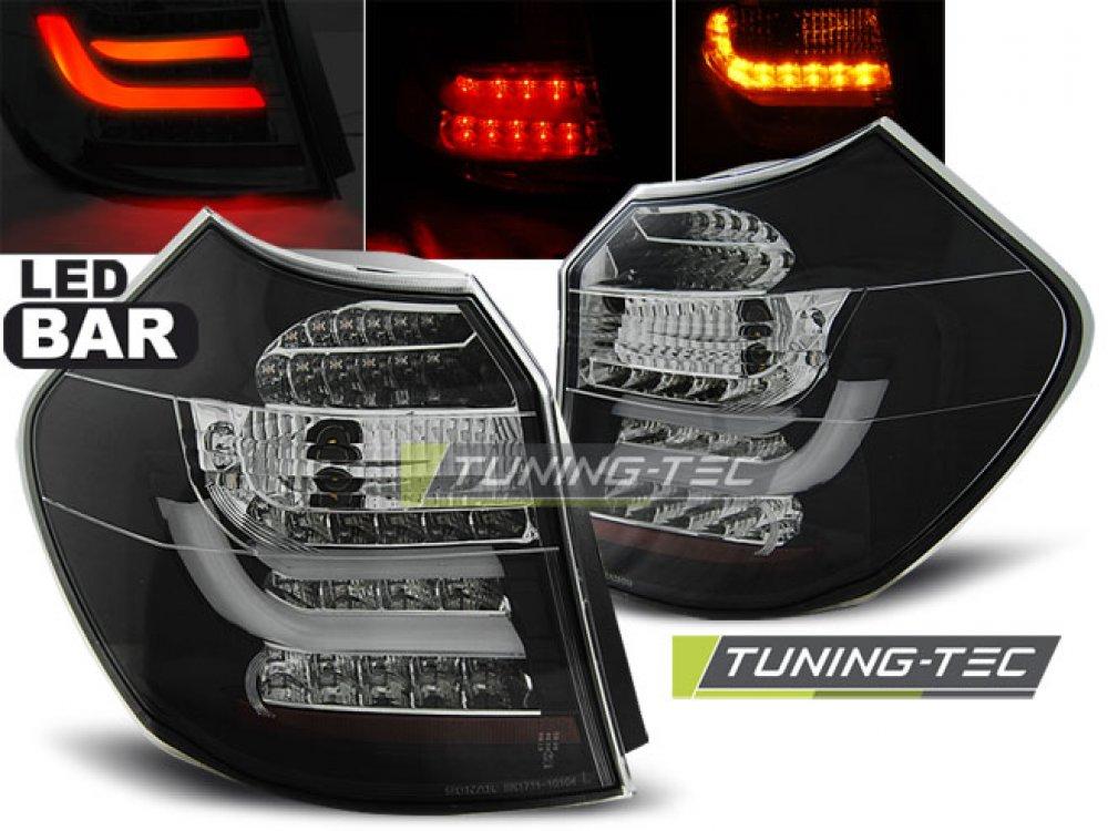 Задние диодные фонари LedBar Smoke на BMW 1 E87 рестайл