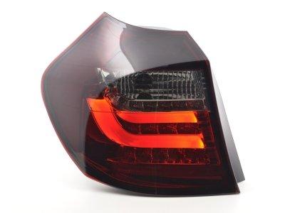 Задние фонари LED Red Smoke на BMW 1 E87