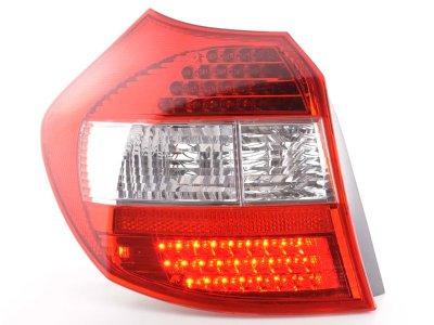 Задняя альтернативная оптика LED Red Crystal на BMW 1 E87