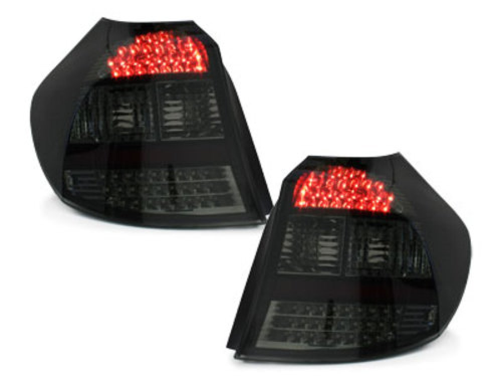 Задняя альтернативная оптика LED Smoke на BMW 1 E87