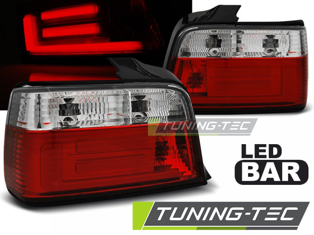 Задние неоновые фонари LED Red Crystal на BMW 3 E36 Limousine