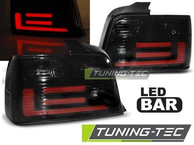 Задние неоновые фонари LED Black Smoke на BMW 3 E36 Limousine