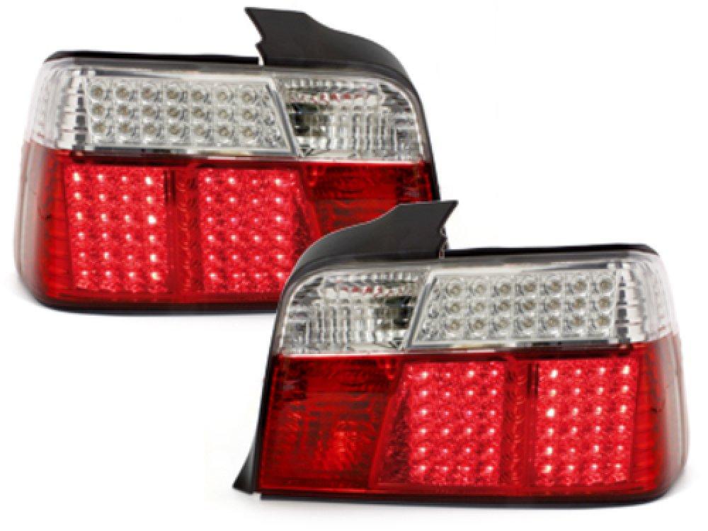 Задние светодиодные фонари LED Red Crystal на BMW 3 E36 Limousine
