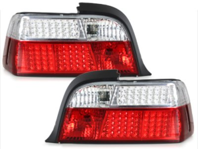 Задние диодные фонари LED Red Crystal на BMW 3 E36 Coupe