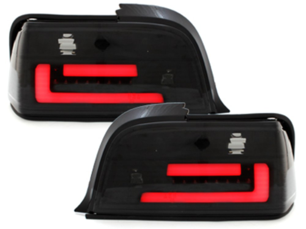 Задние неоновые фонари LED Black Smoke на BMW 3 E36 Coupe
