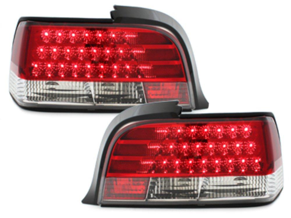 Задние светодиодные фонари LED Red Crystal на BMW 3 E36 Coupe