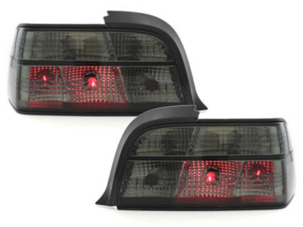 Задняя альтернативная оптика Black на BMW 3 E36 Coupe