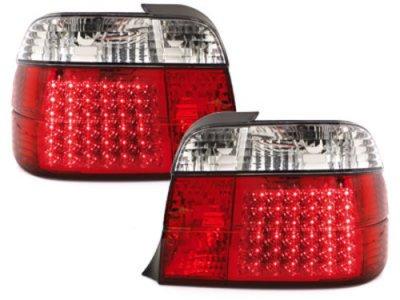 Задние светодиодные фонари LED Red Crystal на BMW 3 E36 Compact