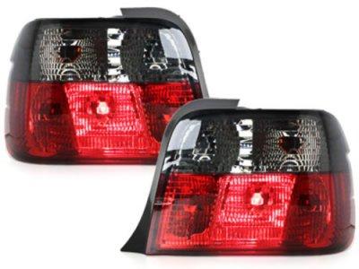 Задние фонари Red Smoke на BMW 3 E36 Compact