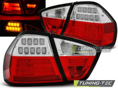 Задние фонари Full LED Red Crystal на BMW 3 E90