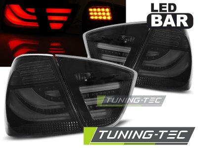 Задние фонари LED Bar Smoke на BMW 3 E90