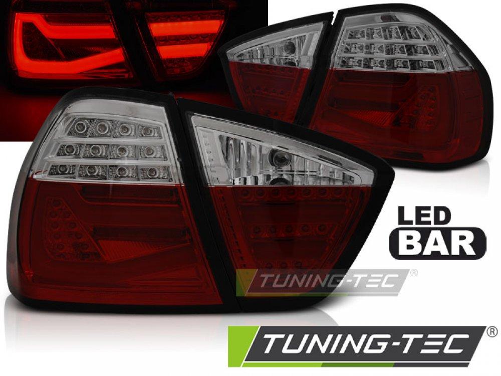 Задние фонари F30 Look LED Red Smoke от Tuning-Tec на BMW 3 E90