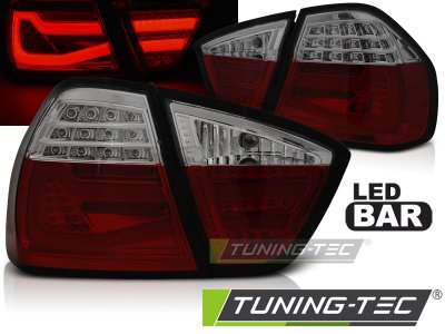 Задние фонари F30 Look LED Red Smoke от Tuning-Tec на BMW 3 E90