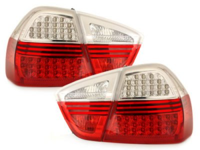 Задние диодные фонари LED Red Crystal на BMW 3 E90