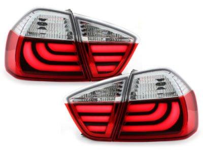 Задние фонари CarDNA LED Red Crystal на BMW 3 E90