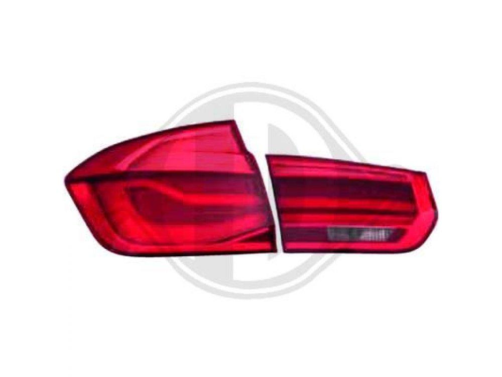 Задняя альтернативная оптика LED Red Crystal на BMW 3 F30