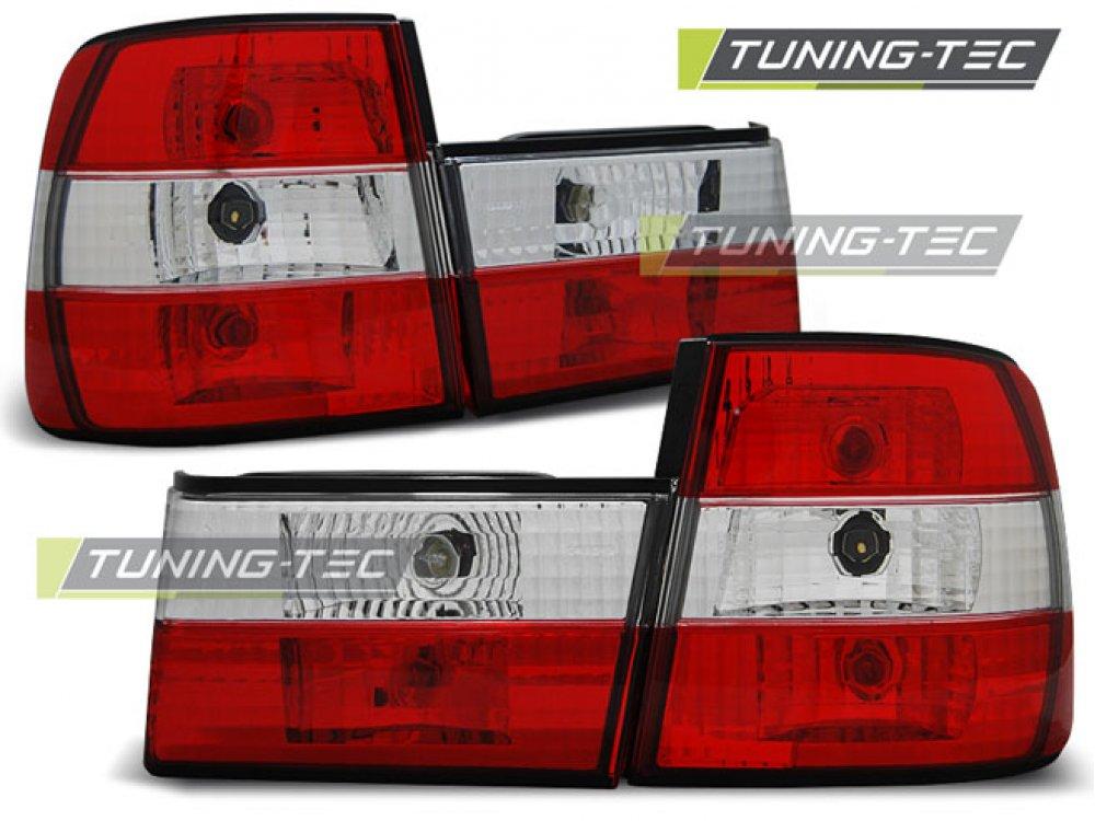 Задняя альтернативная оптика Red Crystal на BMW 5 E34