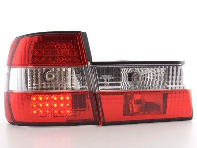 Задние диодные фонари LED Red Crystal на BMW 5 E34