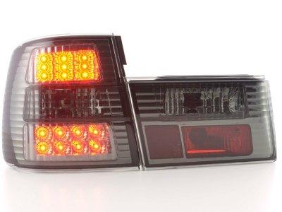 Задние фонари LED Smoke на BMW 5 E34