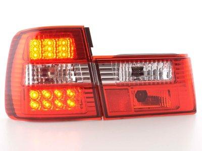 Задние фонари LED Red Crystal на BMW 5 E34