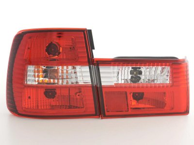 Задняя альтернативная оптика Red Crystal Var2 на BMW 5 E34