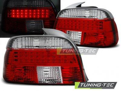 Задние диодные фонари LED Red Crystal на BMW 5 E39