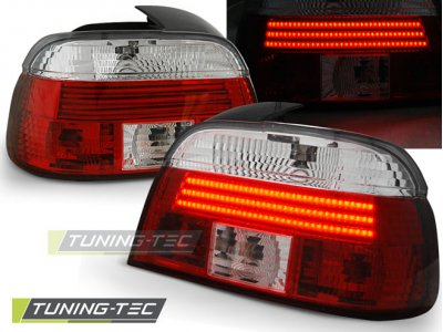 Задние фонари Neon Red Crystal на BMW 5 E39