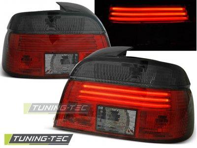 Задние фонари Neon Red Smoke на BMW 5 E39