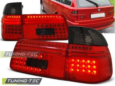 Задние фонари LED Red Smoke от Tuning-Tec на BMW 5 E39 Touring