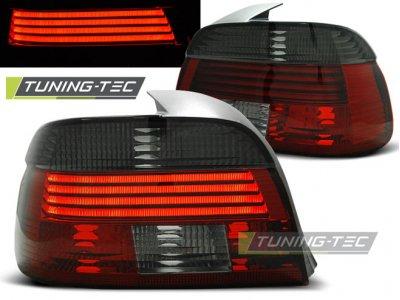 Задние фонари Neon Red Smoke на BMW 5 E39 рестайл