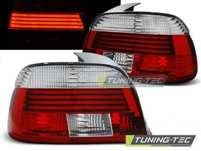 Задние фонари Neon Red Crystal на BMW 5 E39 рестайл