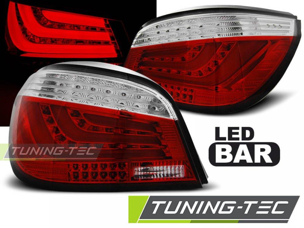 Задние фонари F-Style LED Red Crystal var2 на BMW 5 E60