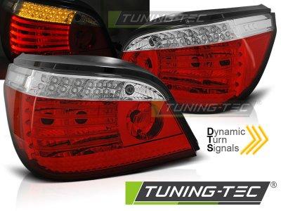 Задние фонари с динамическим указателем поворота LED Red Crystal на BMW 5 E60