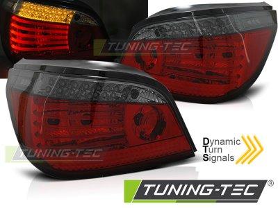 Задние фонари с динамическим указателем поворота LED Red Smoke на BMW 5 E60