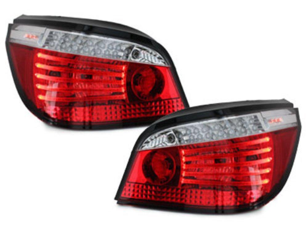Задние фонари Full LED Red Crystal на BMW 5 E60
