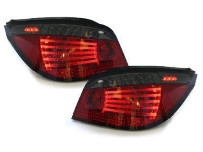 Задние фонари Full LED Red Smoke на BMW 5 E60
