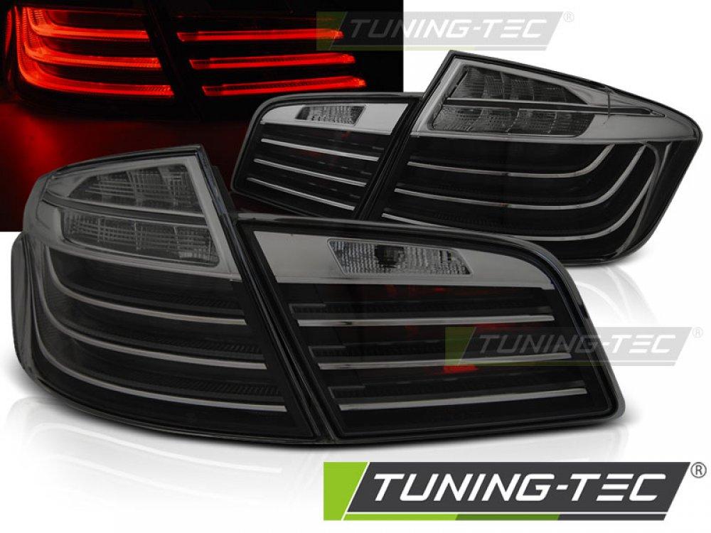 Задние диодные фонари в стиле LCI LED Black Smoke на BMW 5 F10