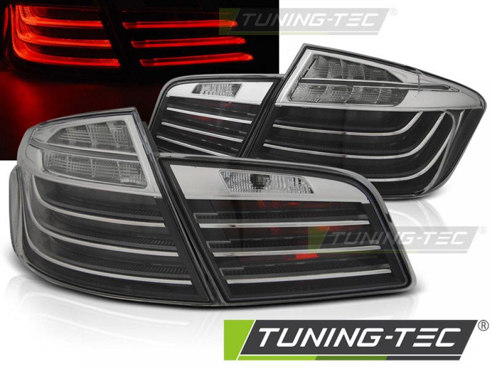 Задние диодные фонари в стиле LCI LED Black Chrome на BMW 5 F10