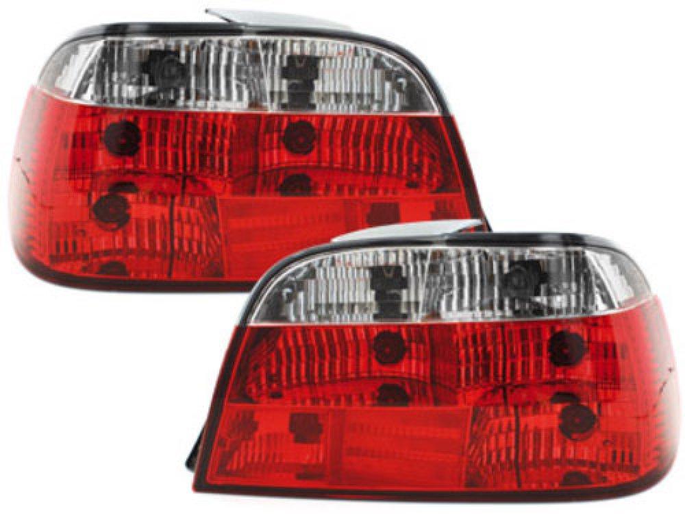 Задние фонари Red Crystal на BMW 7 E38