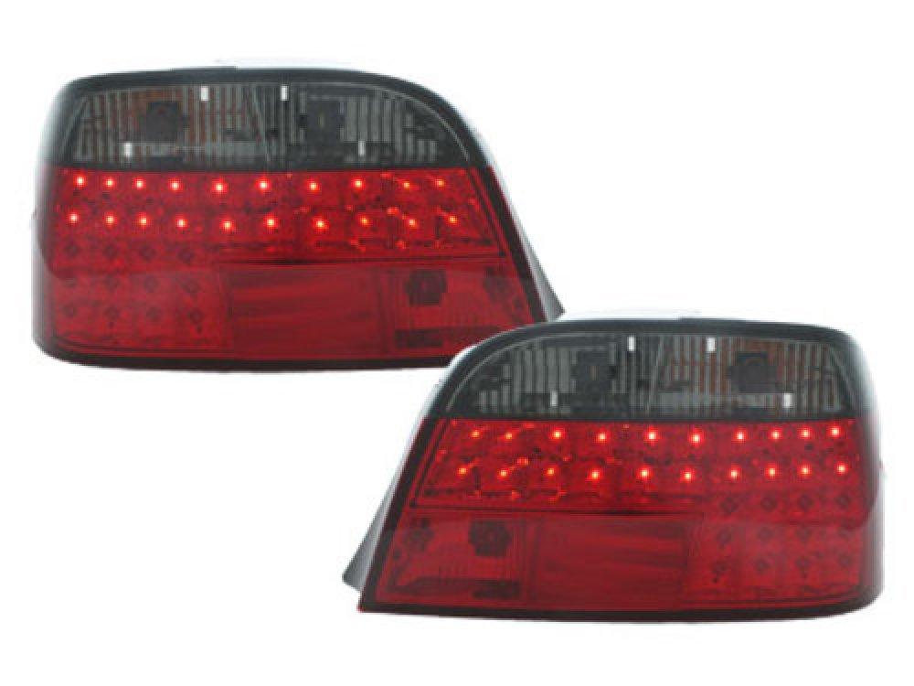 Задние светодиодные фонари LED Red Smoke на BMW 7 E38