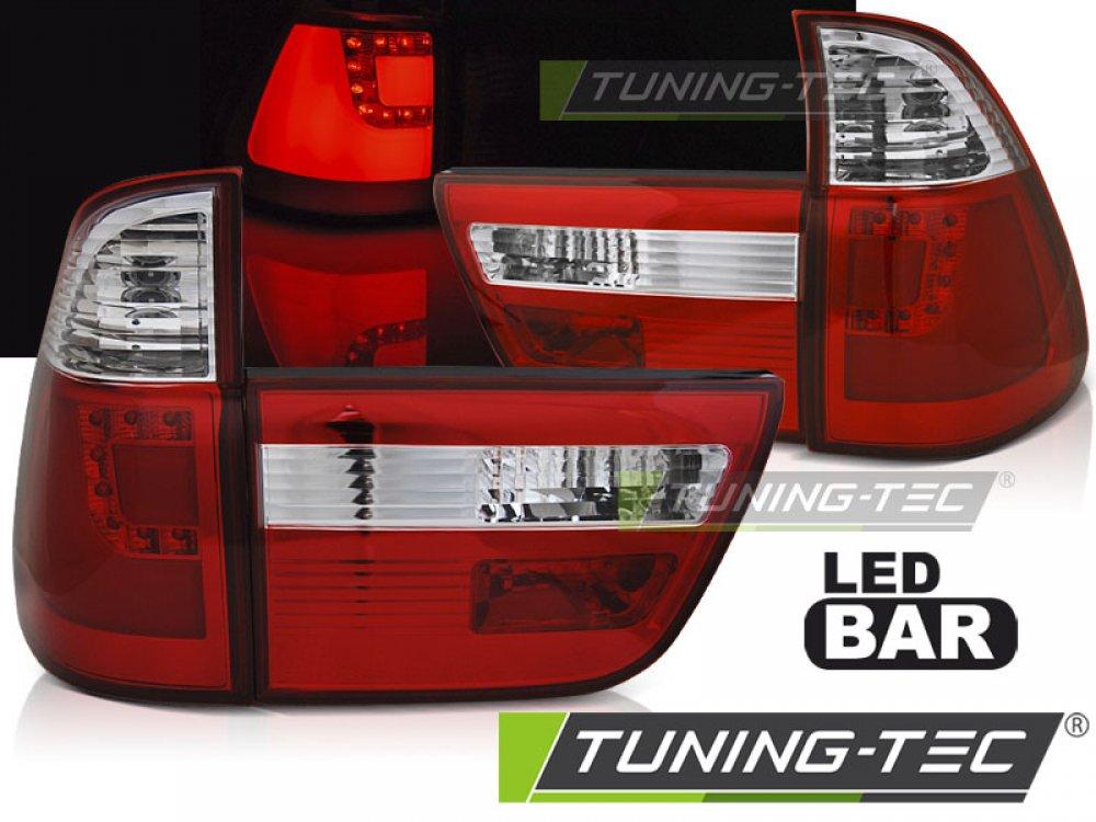 Задние светодиодные фонари F-Style красные на BMW X5 E53