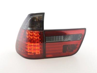 Задние фонари LED Red Smoke на BMW X5 E53