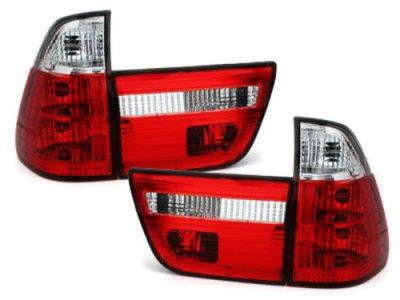 Задние фонари Red Crystal на BMW X5 E53
