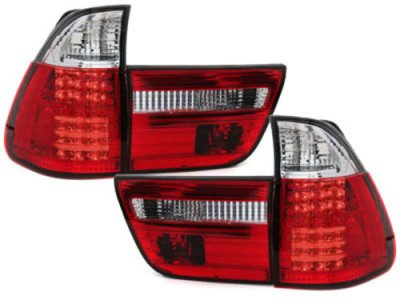 Задние диодные фонари LED Red Crystal на BMW X5 E53